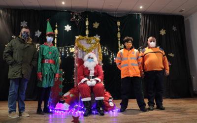 Papa Noel recogió las cartas de los niños y niñas de Albalate
