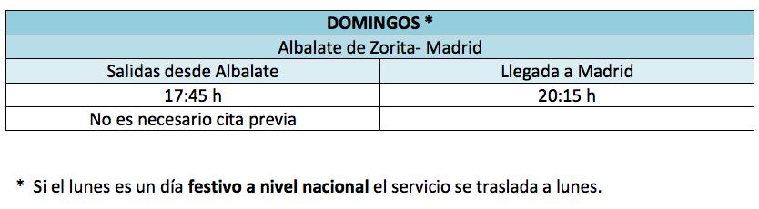 autobuses madrid albalate